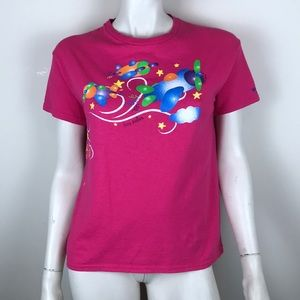 Vintage hot pink National Museum US Air Force tee